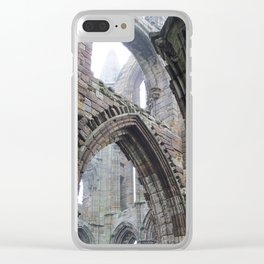 Whitby Abbey in Fog #2 Clear iPhone Case