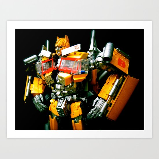 The Golden Optimus Art Print