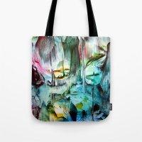 waterfall Tote Bags featuring WaterFall by ART de Luna