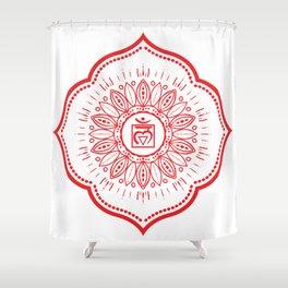 Root Chakra Mandala #04 Shower Curtain