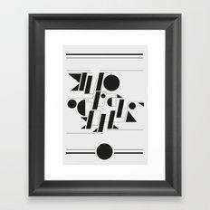 Typography Framed Art Print