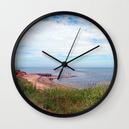 North Cape Sandbar PEI Wall Clock