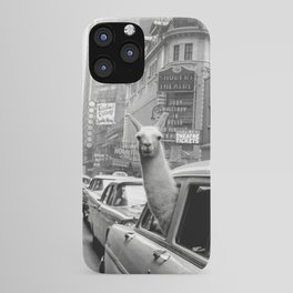 Llama Riding In Taxi iPhone Case