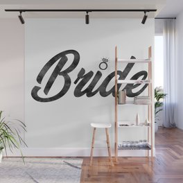 Funny Bride To Be Bridesmaid Bridal Party Gift Wall Mural