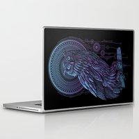 nouveau Laptop & iPad Skins featuring Owl Nouveau II by Jorge Garza