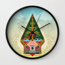 Wayang Gunungan or shadow puppets Wall Clock