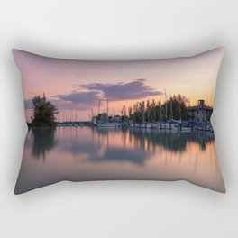 Sunset at Lake Balaton Rectangular Pillow