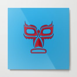 Luchador Mask Good Guy Metal Print