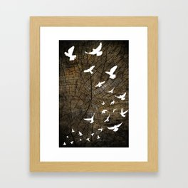 Birds on Wood Framed Art Print