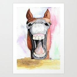 Happy Horse Art Print