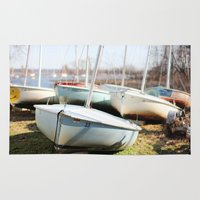 boats Area & Throw Rugs featuring Boats by myhideaway