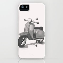Vintage Scooter black and white iPhone Case