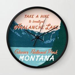 Avalanche Lake Wall Clock