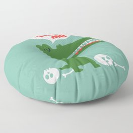 Hungry Hungry Alligator Floor Pillow