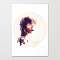 suit cigg (circle) Canvas Print