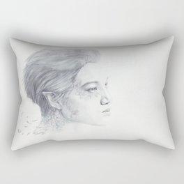 Portrait of the Birds Rectangular Pillow
