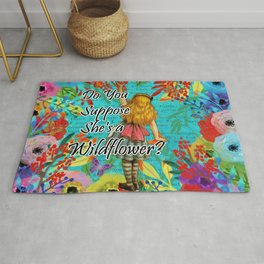 Do You Suppose She's a Wild Flower? - Alice In Wonderland Rug