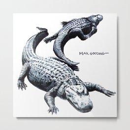 Lazy Gators II Metal Print