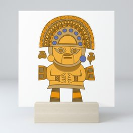 Inca Sun God Mini Art Print