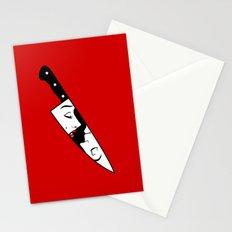 Noir Knife Stationery Cards
