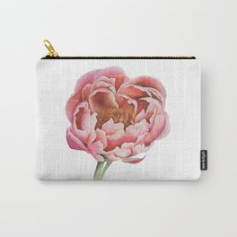 Bubblegum Peony Carry-All Pouch