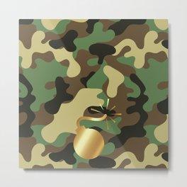 BOMB - CAMO & GOLD Metal Print
