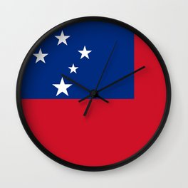 Samoan flag - Authentic version to scale and color Wall Clock