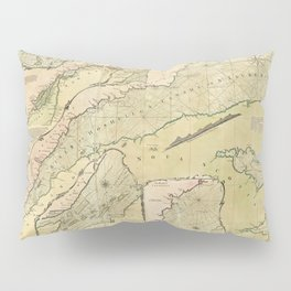 Map of the Saint Lawrence River (1771) Pillow Sham