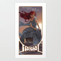 1989 Art Prints featuring NOUVEAU 1989 by Lettie Bug