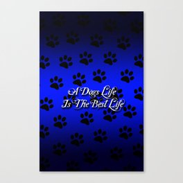 Blue Paws Canvas Print