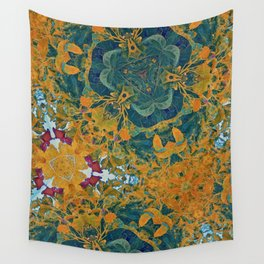 Orange and Green Flora Wall Tapestry