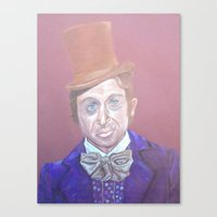 willy wonka Canvas Prints featuring Willy Wonka by gabrielle gordon