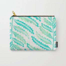 Fern Leaf – Turquoise Palette Carry-All Pouch