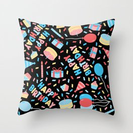 HAPPY BIRTHDAY BALLOONS! Throw Pillow