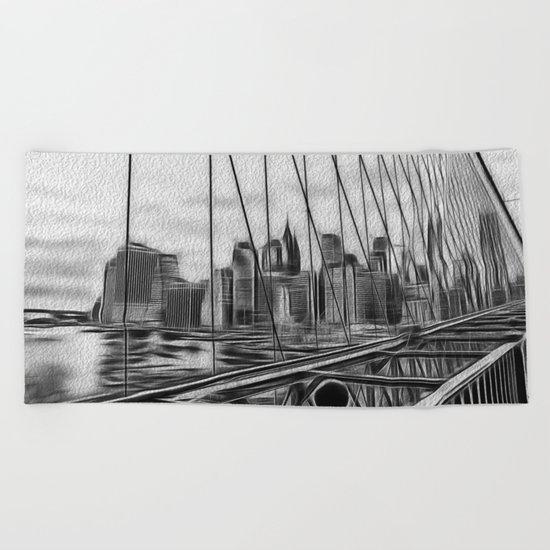 Manhattan NY Beach Towel