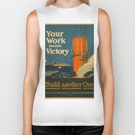 Vintage poster - Your Work Means Victory Biker Tank