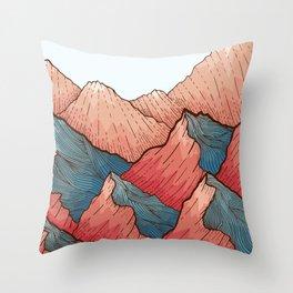 Sea Peaks Throw Pillow