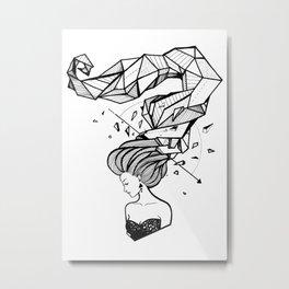 Geometrical Tresses Metal Print
