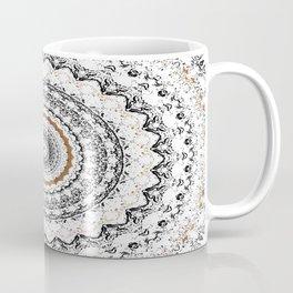 Black, Gold, and White Coffee Mug