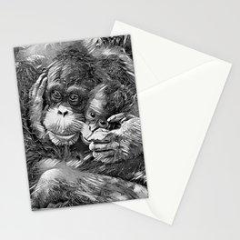 AnimalArtBW_OrangUtan_20170603_by_JAMColors-Special Stationery Cards