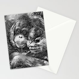 AnimalArtBW_OrangUtan_20170603_by_JAMColors-Special Stationery Cards