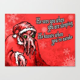 Cthulhu Claus Is Coming to Town Canvas Print