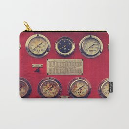 Old Gauges on a Fire Truck Carry-All Pouch