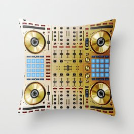 DDJ SX N In Limited Edition Gold Colorway Throw Pillow