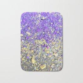 Chalk Dust Confetti Purple and Yellow Bath Mat