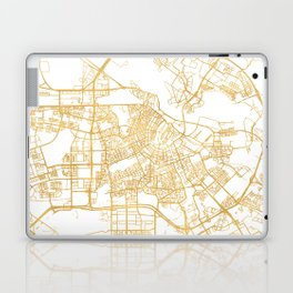 AMSTERDAM NETHERLANDS CITY STREET MAP ART Laptop & iPad Skin