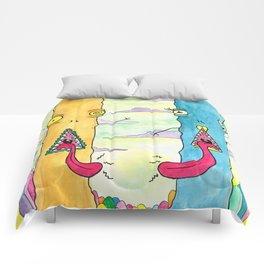 Alien Couple Comforters
