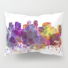 Phoenix skyline in watercolor background Pillow Sham