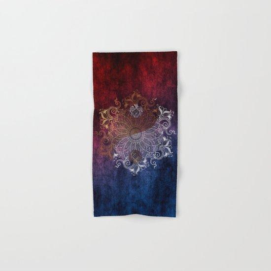 Mandala - Fire & Ice, yang version Hand & Bath Towel