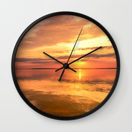 Twilight Sky in Colorful Bright Sunlight Wall Clock